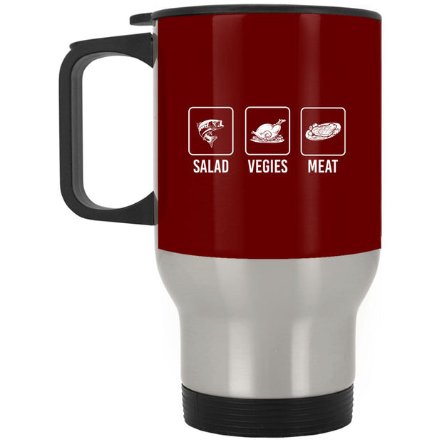 Salad Veggies Meat Stainless Travel Mug
