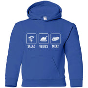 My Salad Is Meat - Gildan Youth Pullover Hoodie