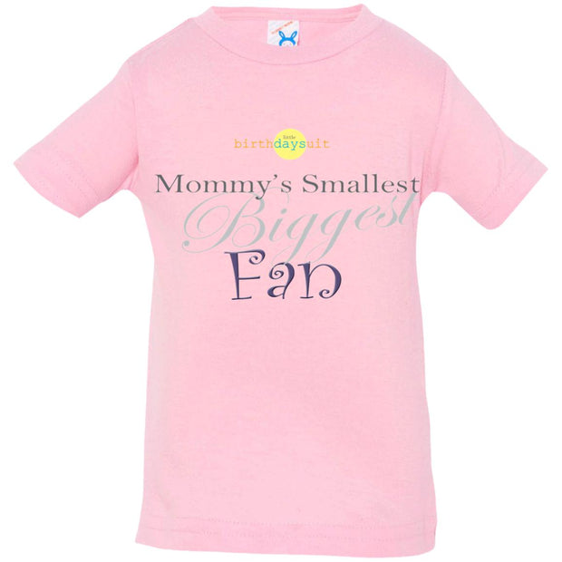 Mommy's Smallest Biggest Fan | Rabbit Skins T-Shirt pink