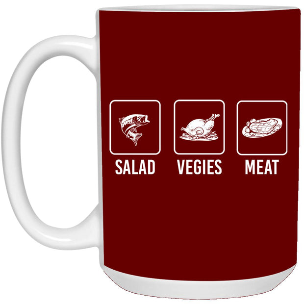 Salad Veggies Meat Mug 15oz
