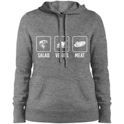 My Salad Is Meat - Sport-Tek Ladies' Pullover Hoodie