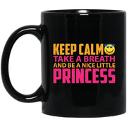 Keep Calm Princess Black Mug 11oz