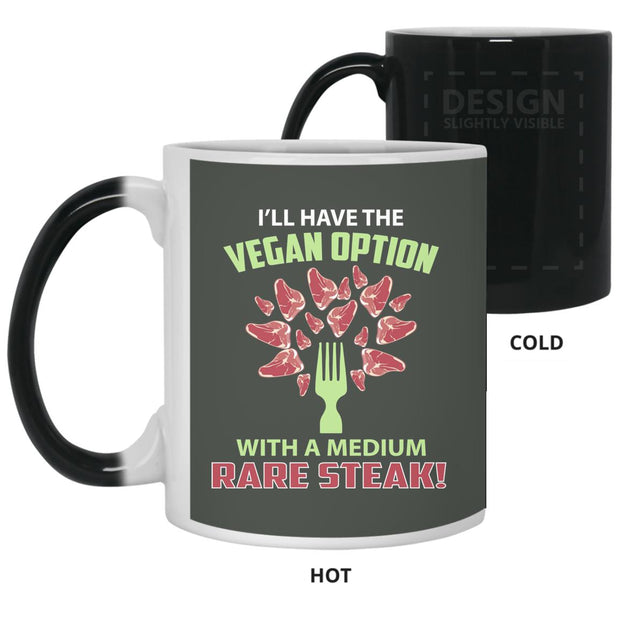 Vegan Steak Medium Rare Color Changing Mug 11oz