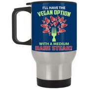 Vegan Steak Medium Rare Stainless Travel Mug