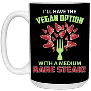 Vegan Steak Medium Rare Mug 15oz