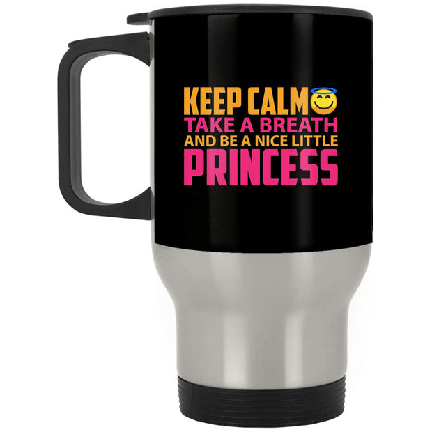 Keep Calm Princess Stainless Travel Mug