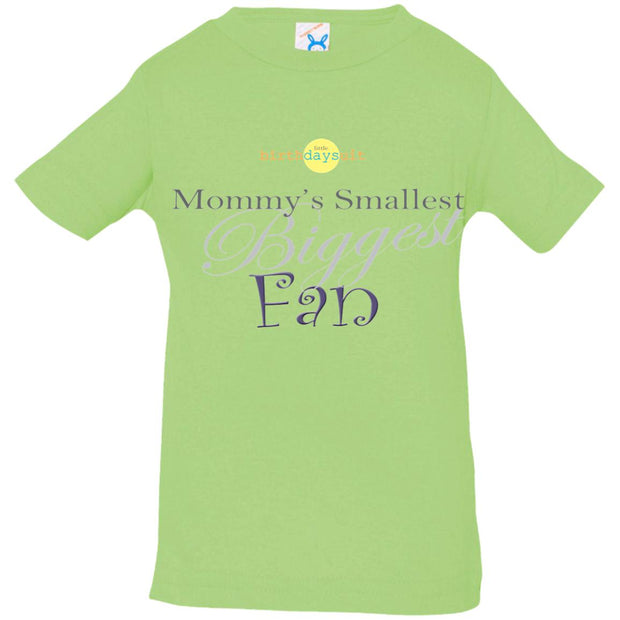 Mommy's Smallest Biggest Fan | Rabbit Skins T-Shirt green