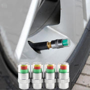 Set of 4 Car Tire Pressure Monitors in situ | Ten Big Ones