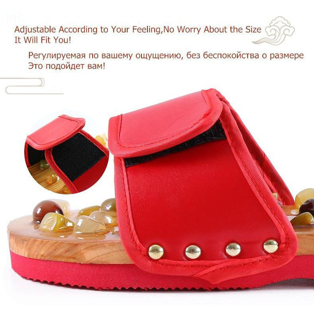 Pebble Stone Foot Massage Slippers | Ten Big Ones