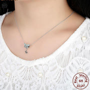 Sterling Silver Butterfly Necklace | Ten Big Ones