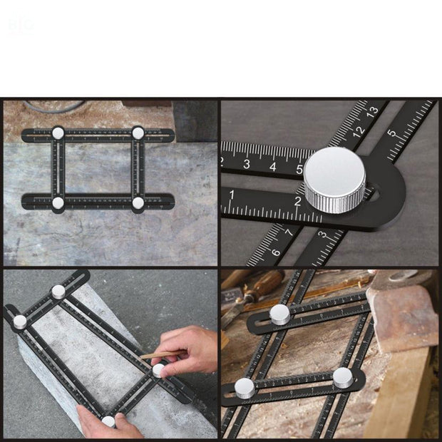 Aluminium Multi Angle Template Tool | Ten Big Ones - Ten Big Ones