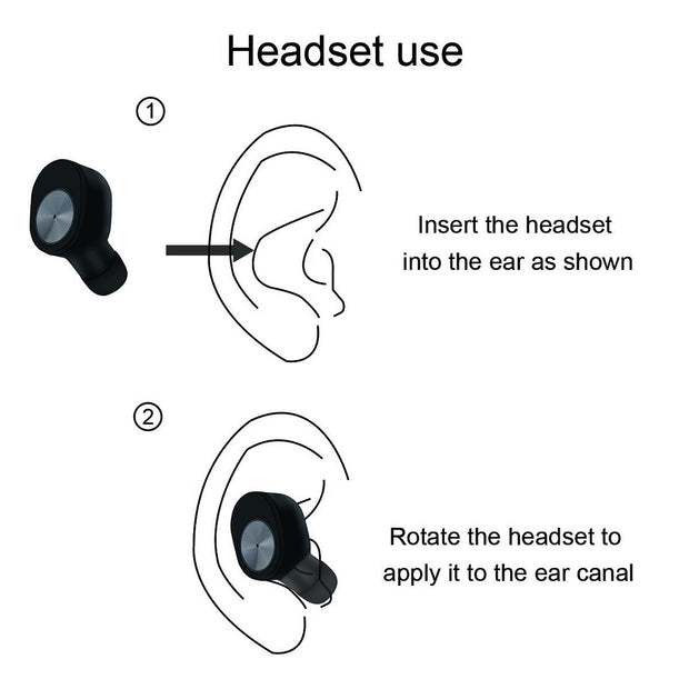 TWS Bluetooth Wireless Headphones instructions 1