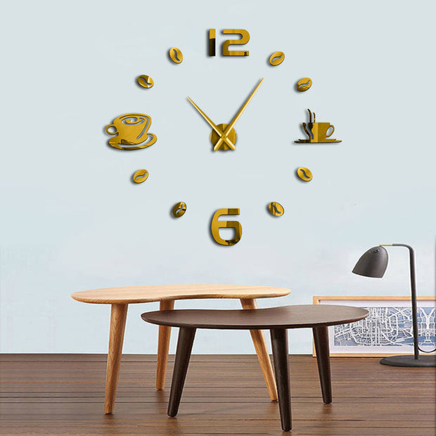 DIY Frameless Giant Wall Clock