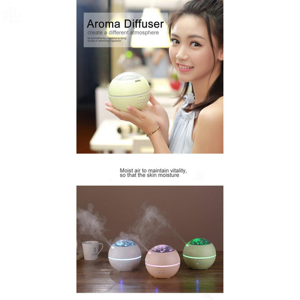 LED Projector Ultrasonic Aroma Humidifier