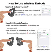 TWS Bluetooth Wireless Headphones instructions 2