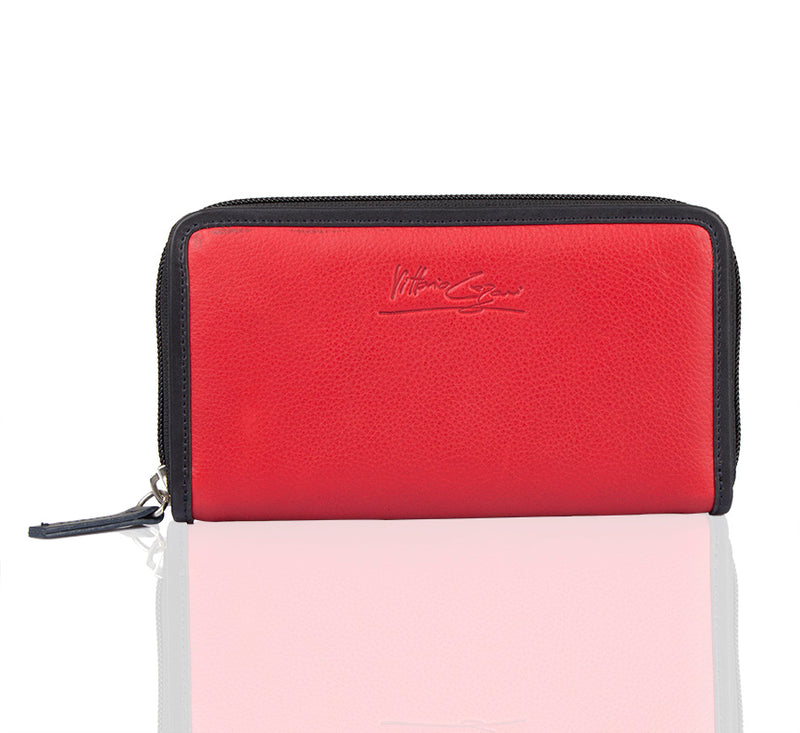Duality Zip Around Wallet - The Leather Boutique