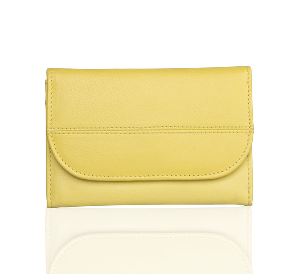 Lil Flap Yellow Leather Wallet