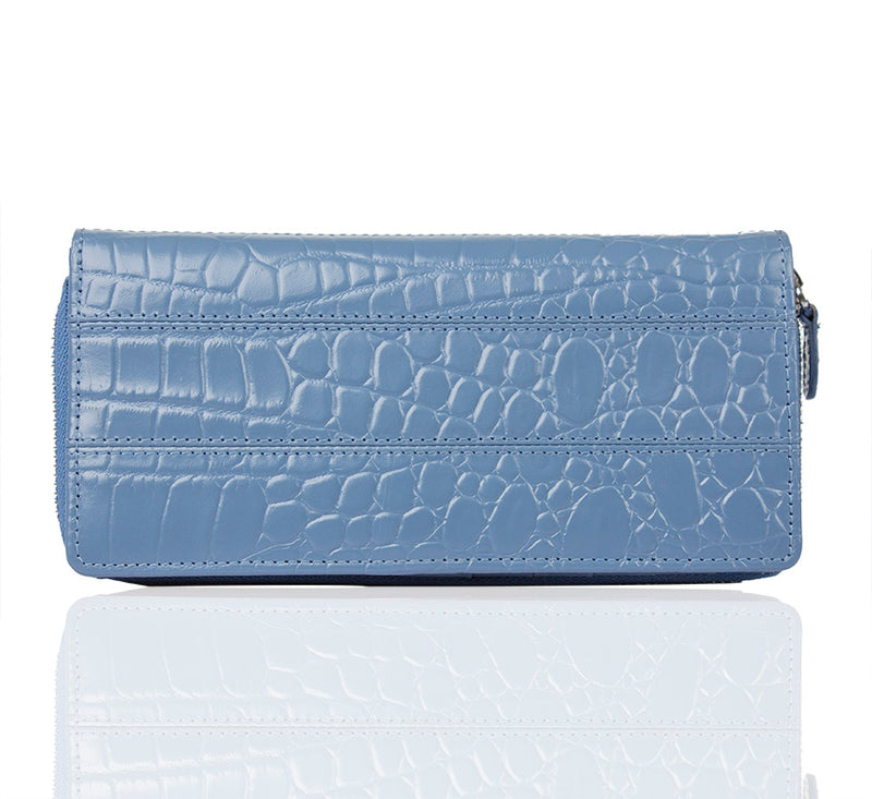 Just A Millet Zip Around Blue Wallet