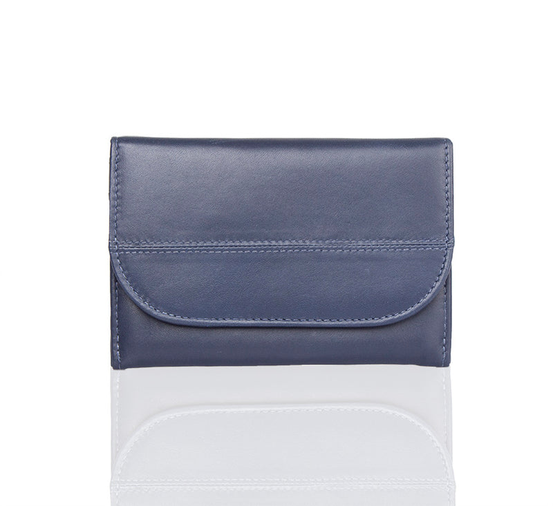 Lil Flap Navy Leather Wallet