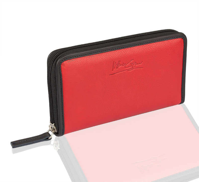Duality Zip Around Wallet - TLB - The Leather Boutique