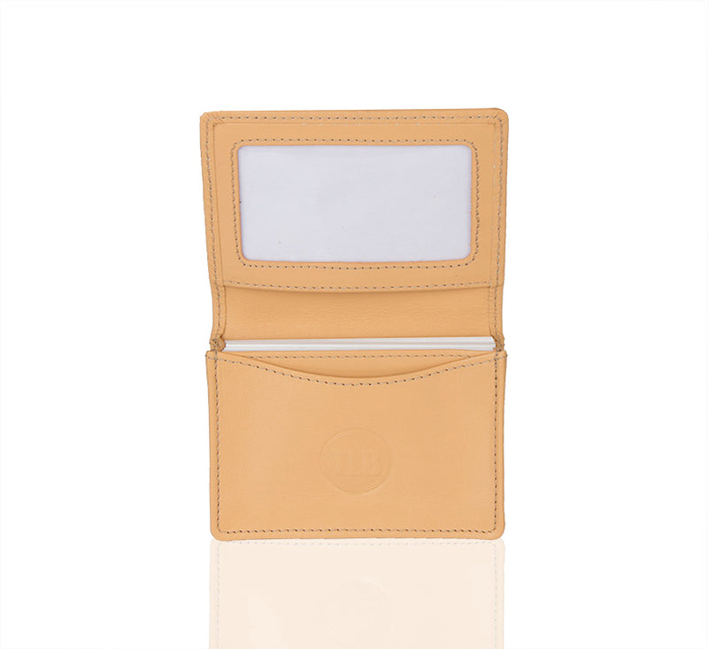Camomile Leather Card Holder Wallet
