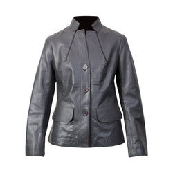 Women's Leather Jacket (Resin Nappa) - The Leather Boutique