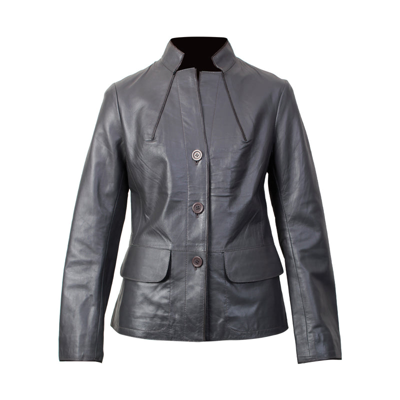 Women's Leather Jacket (Resin Nappa) - TLB - The Leather Boutique