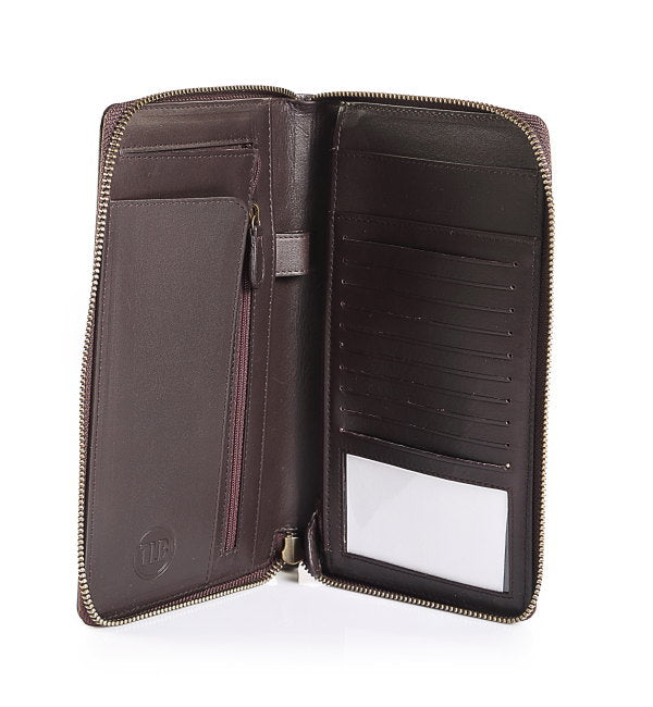 Men's Leather Deep Earth Passport Sleeve