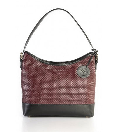Scoop Weave Leather Bag - TLB - The Leather Boutique