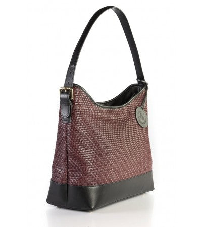 Scoop Weave Ruby Leather Purse