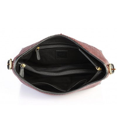 Scoop Weave Leather Bag - The Leather Boutique