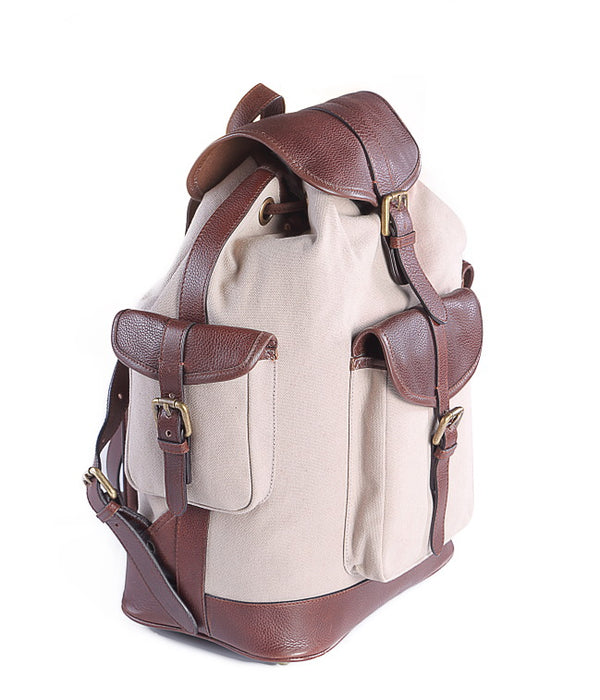 The Chronicle Leather Backpack Canvas