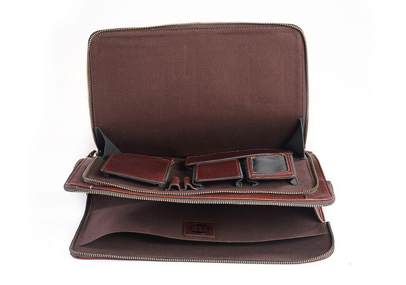 Wallstreeter Leather Brown Laptop Sleeve
