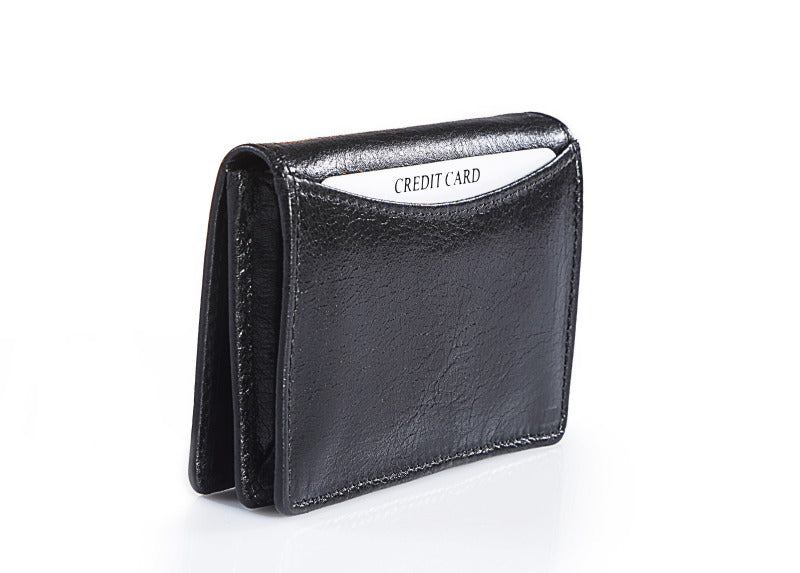 Black Leather Card Holder Wallet