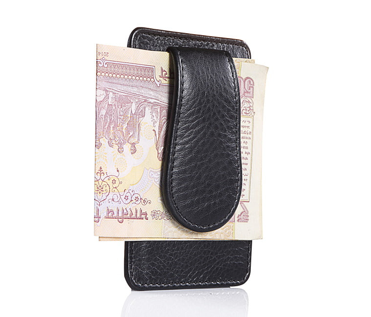 Leather Black Moo Clip