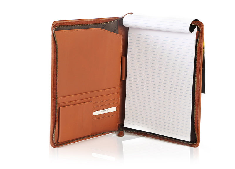 Men's Aberdeen Tan Leather Folder