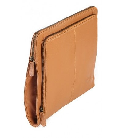 Wallstreeter Leather Tan Laptop Sleeve