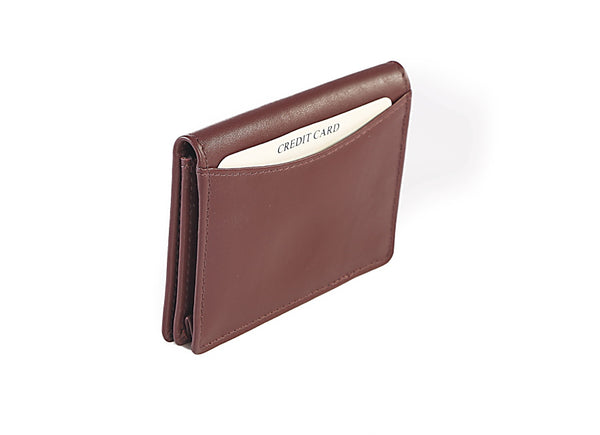 Ruby Leather Card Holder Wallet