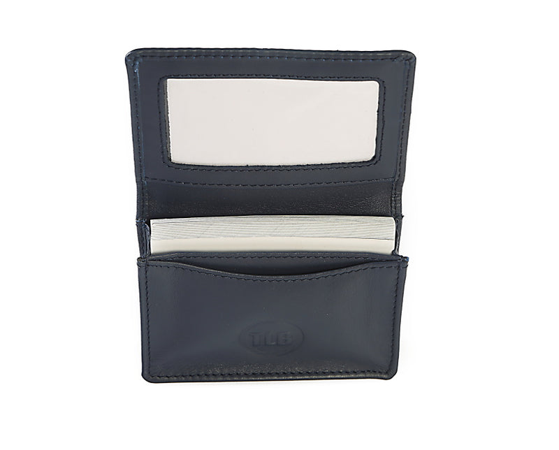 Dark Navy Leather Card Holder Wallet