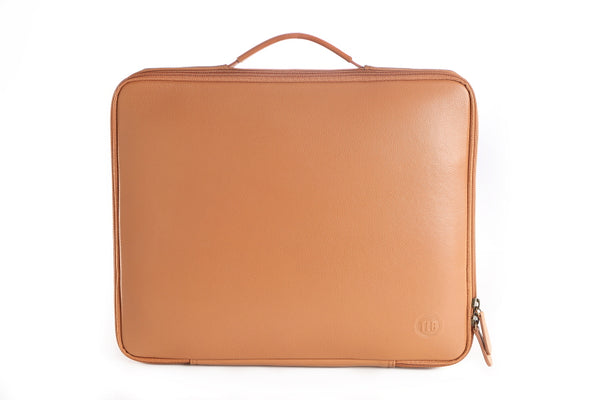 Astor Tan Leather Laptop Sleeve