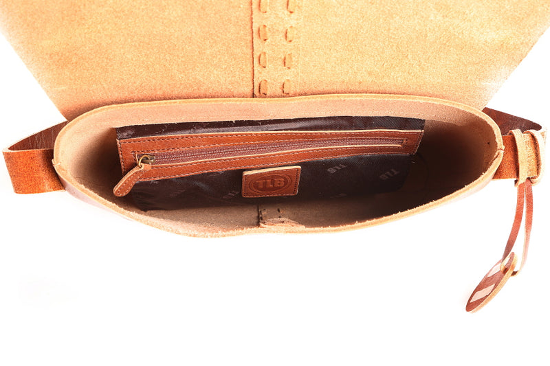 Sioux Leather Tan Saddlebag