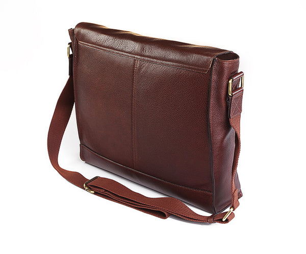 Yogi Brown Leather Satchel
