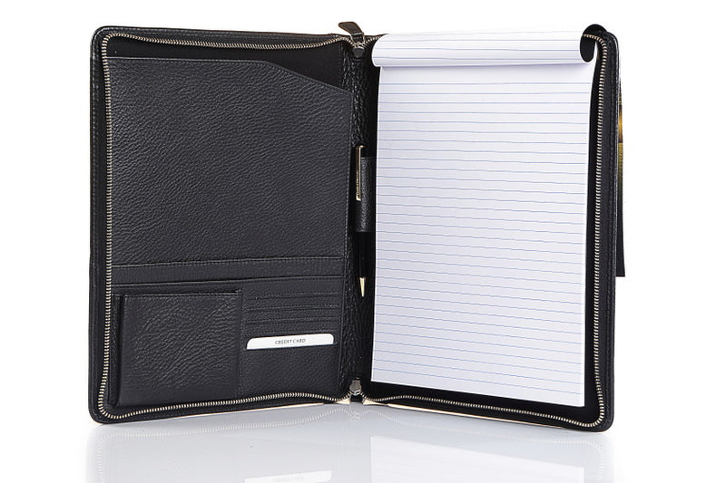 Men's Aberdeen Black Leather Folder