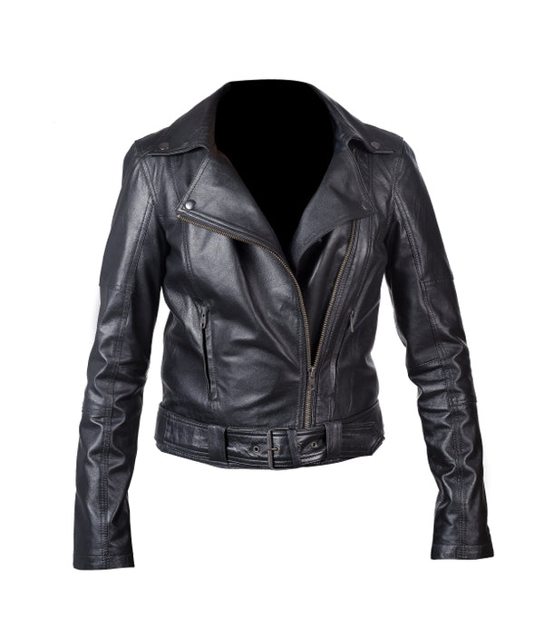Women's Leather Jacket (MARY) - The Leather Boutique