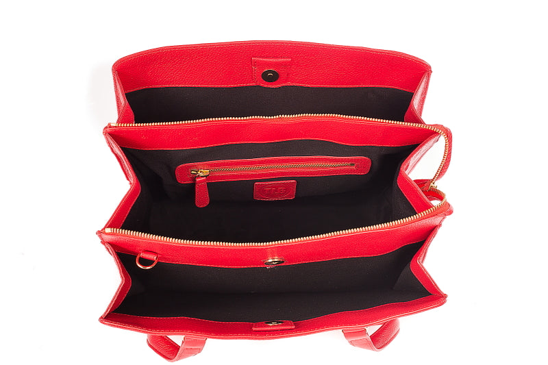 Red Leather Beluga Work Bag