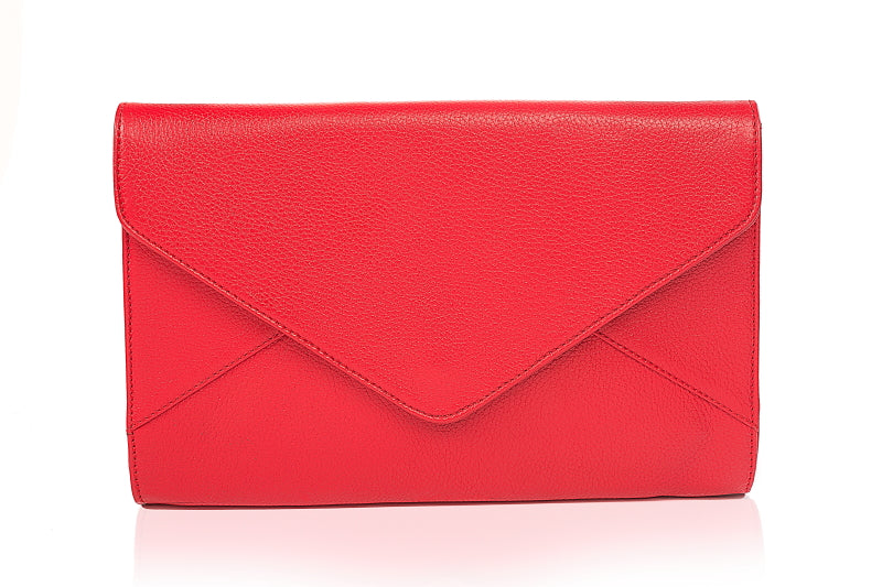 Dahlia Leather Clutch - The Leather Boutique