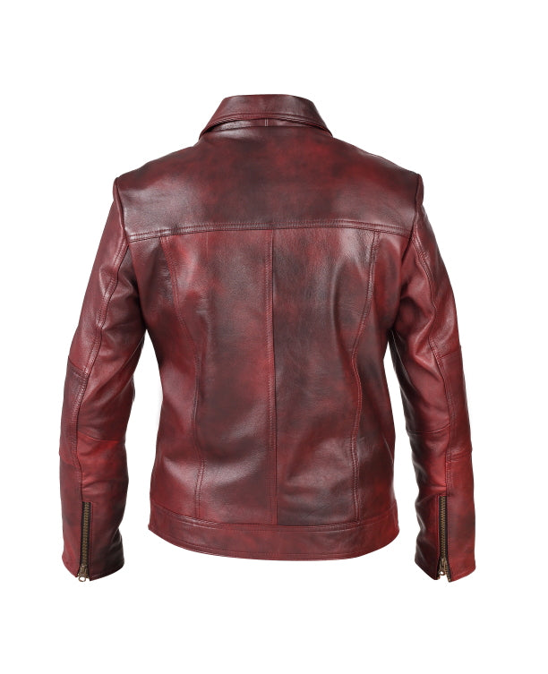 Women's Leather Jacket (Nancy) - The Leather Boutique