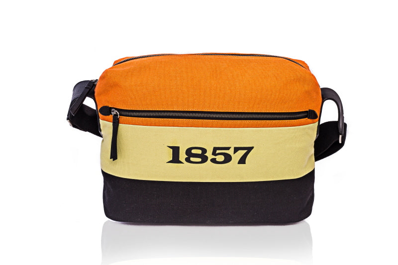 Canvas & Leather Messenger Bag by 1857 - TLB - The Leather Boutique