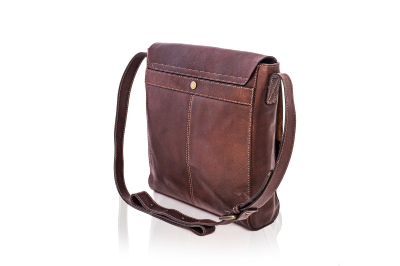 Hamlet Tan Leather Satchel