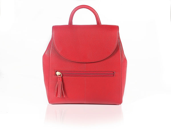 Strawberry Fields Leather Backpack